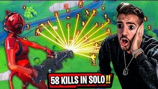 Neuer WELTREKORD 58 KILLS in SOLO in Fortnite l Wakez Reaktion