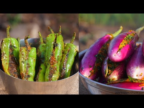 Bharwa Baingan Aur Bharwa Mirchi | Indian Cooking by Nikunj Vasoya
