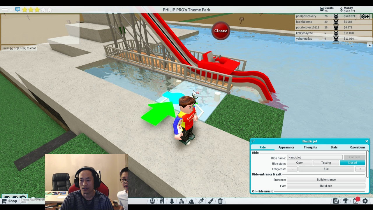 How To Build Nautic Jet In Theme Park Tycoon 22 Ben Toys And