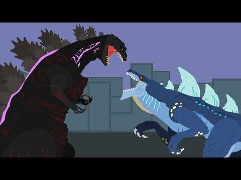 Shin Godzilla vs Zilla Jr | DinoMania - Godzilla Cartoons - NEW episode