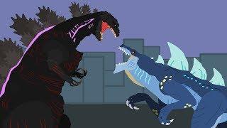Shin Godzilla vs Zilla Jr | DinoMania - Godzilla Cartoons