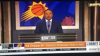 2019 NBA Draft 32nd Pick Phoenix SunsMiami Heat KZ Okpala