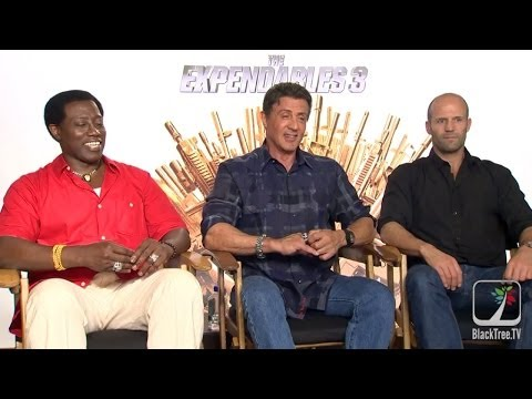 Wesley Snipes, Sly Stallone & Jason Statham interview for Expendables 3