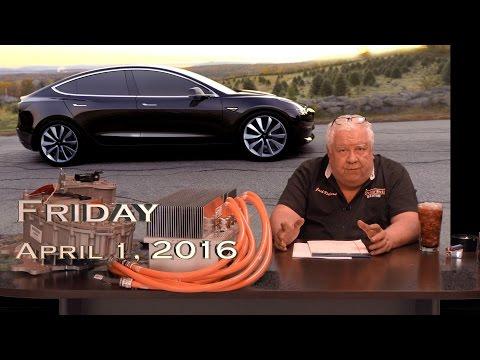 EVTV Friday Show - Tesla Model 3 Unveil - April 1, 2016