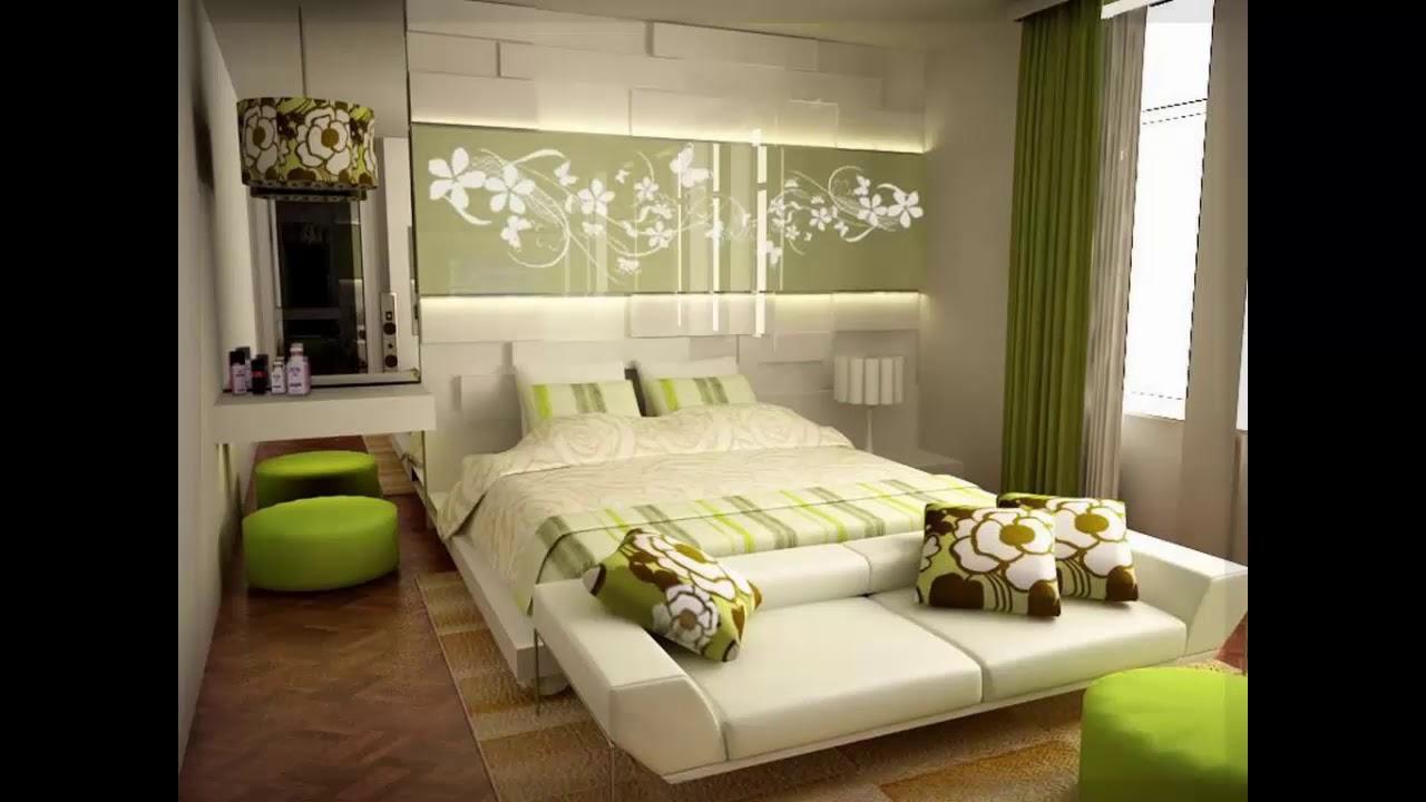 gr ne schlafzimmer ideen wanddekoration youtube. Black Bedroom Furniture Sets. Home Design Ideas