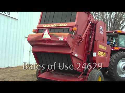 New Holland 664, 5x6 bales, belt style, hyd pick up lift, Baler-Round Sold  on ELS!