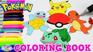 Pokemon Coloring Book Pikachu Charmander Episode Speed Colouring Surprise Egg and Toy Collector SETC