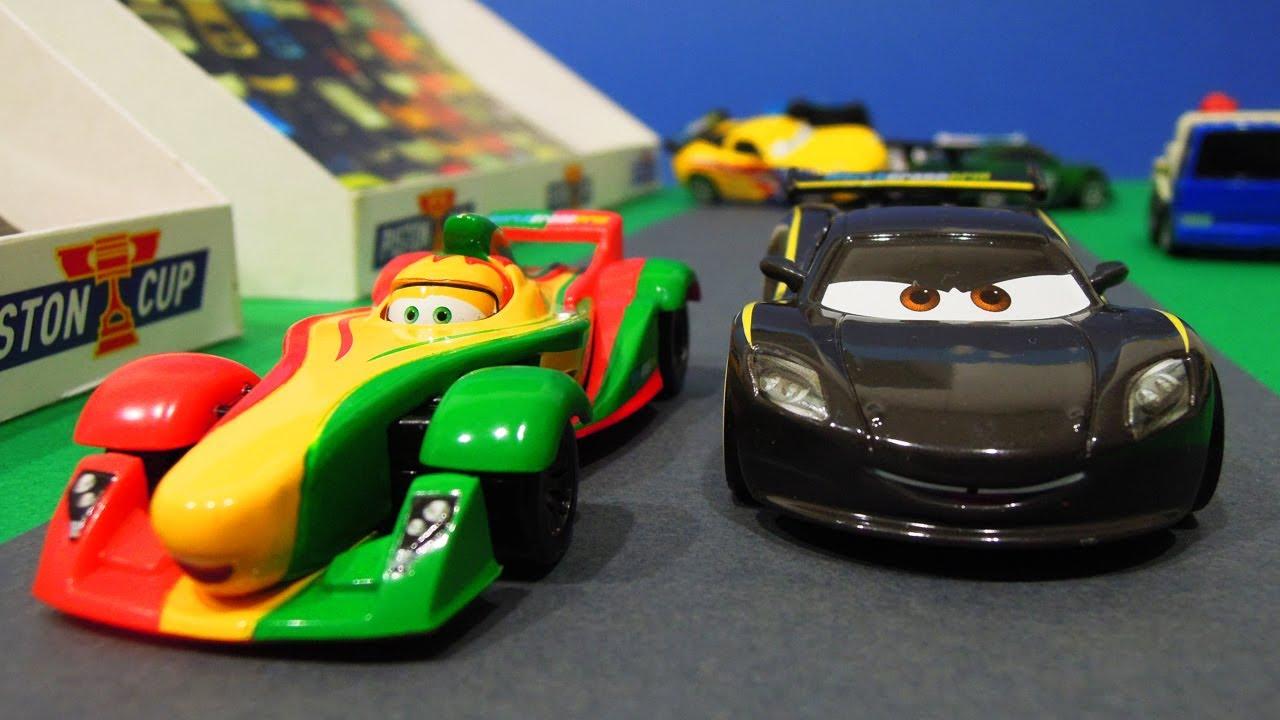 Disney Cars 2 Lewis Hamilton Vs Rip Clutchgoneski World Grand Prix Racing Stopmotion Youtube