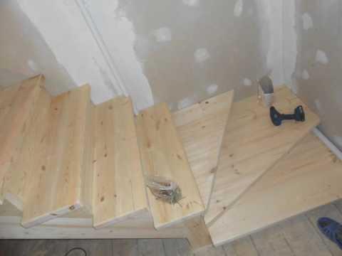 Простая лестница на второй этаж своими