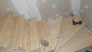 Как сделать лестницу с забежными ступенями своими руками