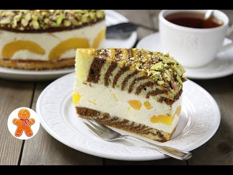 Торт Персиковая Зебра
