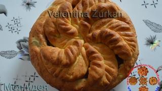 Пирог с картошкой и фрикадельками -5 лепестков.Моя идея,Meine Idee,My idea.FlowerBread.