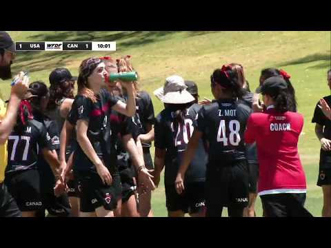 WFDF World Under 24 Ultimate Championship: USA vs Canada - Women's
