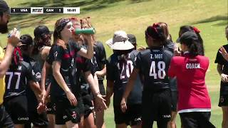 WFDF World Under 24 Ultimate Championship: USA vs Canada - Women's
