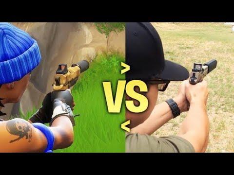 フォートナイト現実の銃とゲームの銃をくらべて