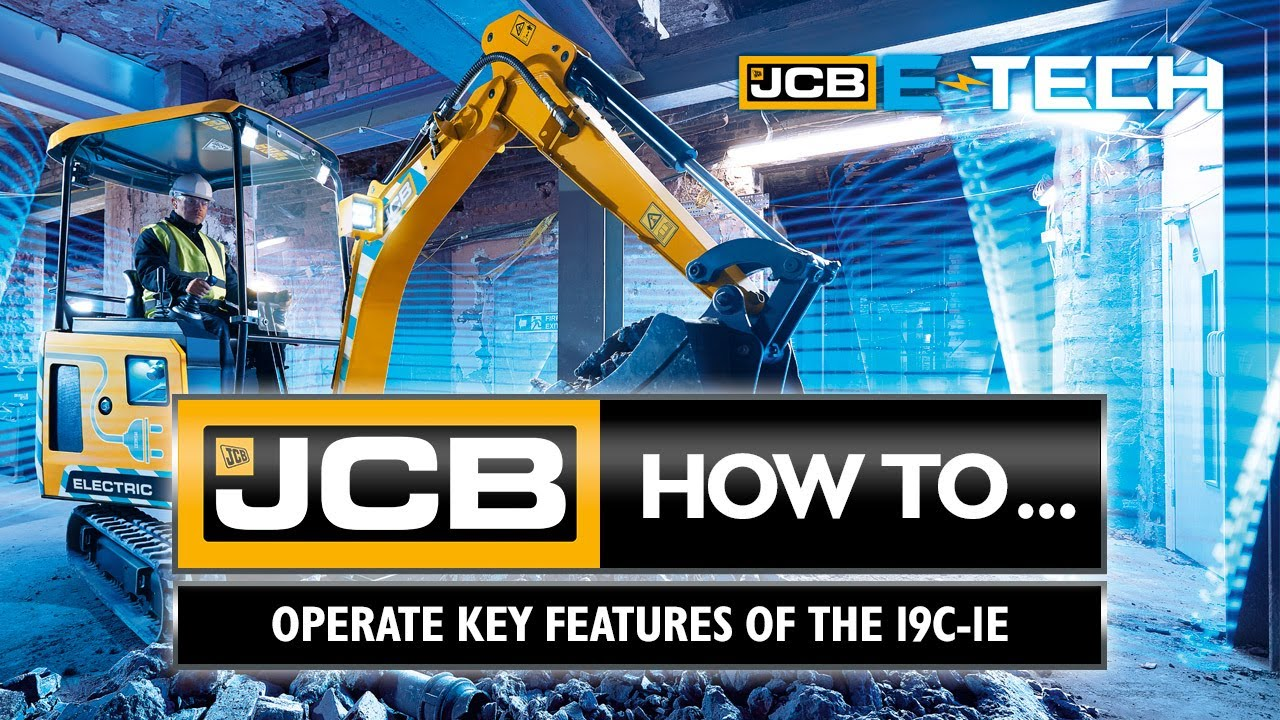 How to operate key features of the JCB 19C-1E electric mini excavator