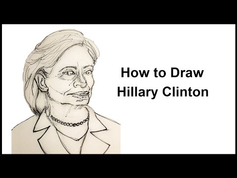 How to Draw Hillary Clinton