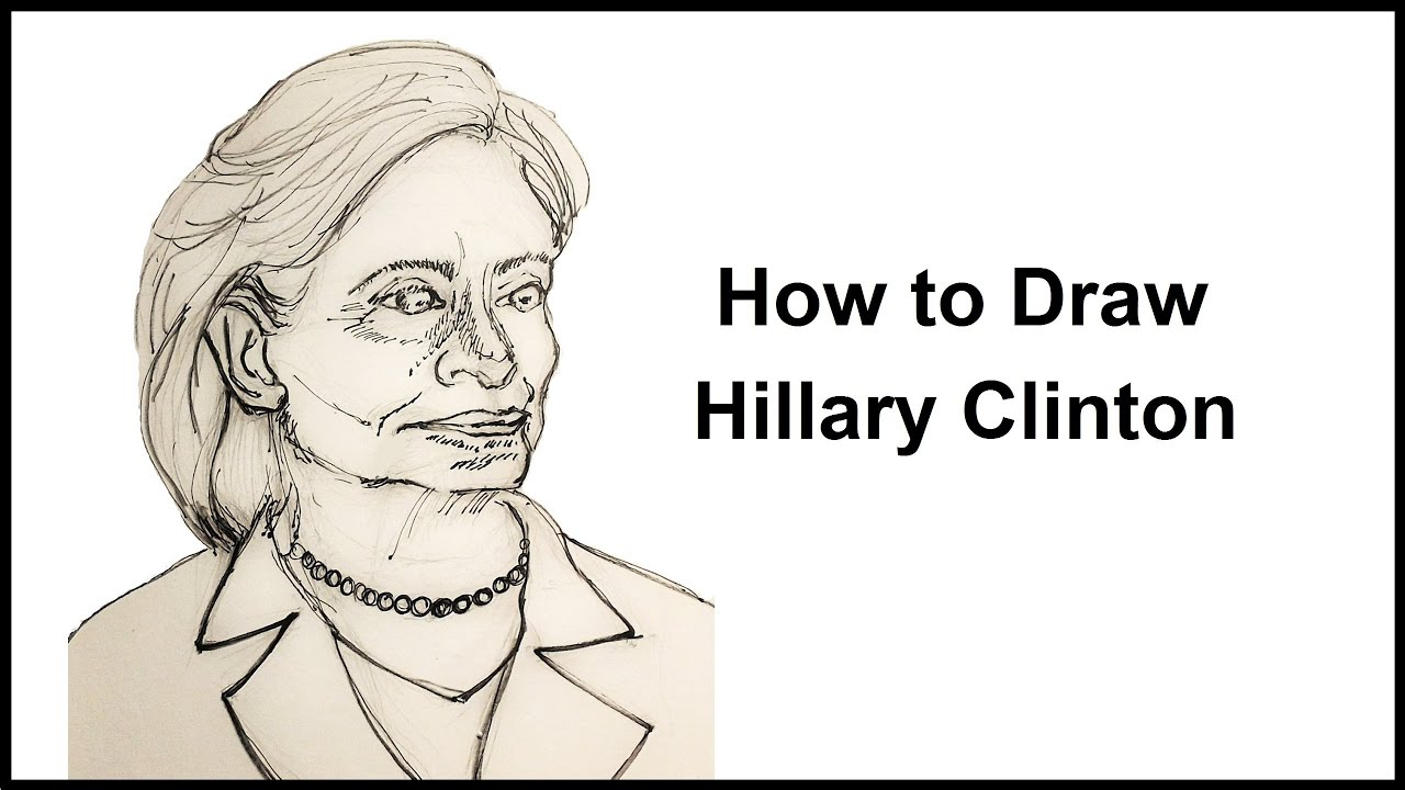 How To Draw Hillary Clinton Youtube