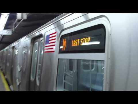 IND Sixth Avenue Line: R160A M Local Train@57th Street/6th Avenue