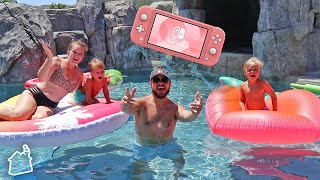 LAST TO LEAVE THE POOL WINS A NINTENDO SWITCH LITE!
