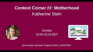 2021 Context Corner: Motherhood