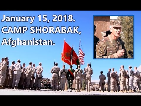Battle For Afghan: 12/18/18. Gen. John Nicholson Speaks To Marines At TOA Ceremony.