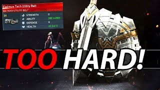 "Is Legendary Gear ""Too Hard"" to Get? (Injustice 2 Discussion)"