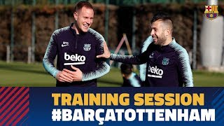 Recovery session to prepare the Champions match against Tottenham