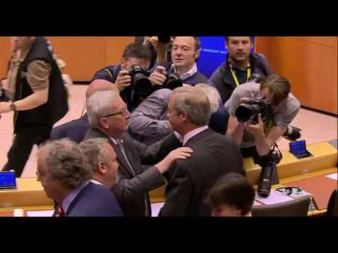 Brexit  Farage and Juncker