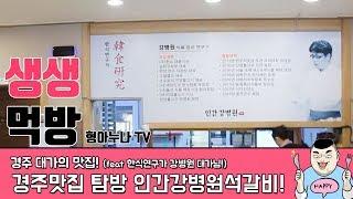 형아누나TV 경주여행 한식대가의 맛집 인간강병원석갈비