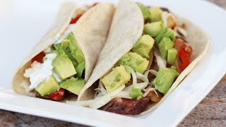 Steak Tacos With Bbq Flank Steak & Tomatillo Sauce By Rockin Robin