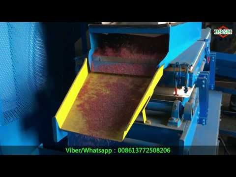 BS-600 electric used copper cable wire granulator machine for copper recovery