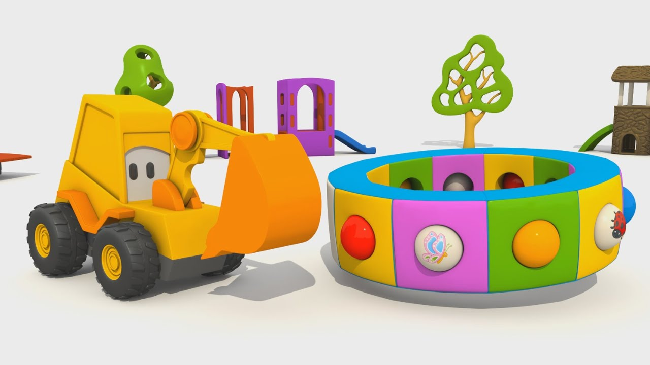 Cartoni animati per bambini l escavatore max e la