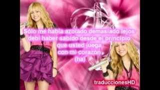 Hannah Montana-miley cyrus-Que sera traducido al español HD
