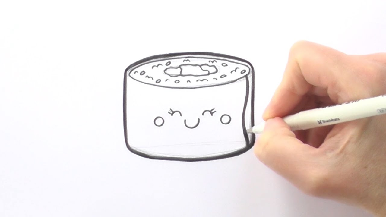 This is a graphic of Smart Sushi Drawing Easy