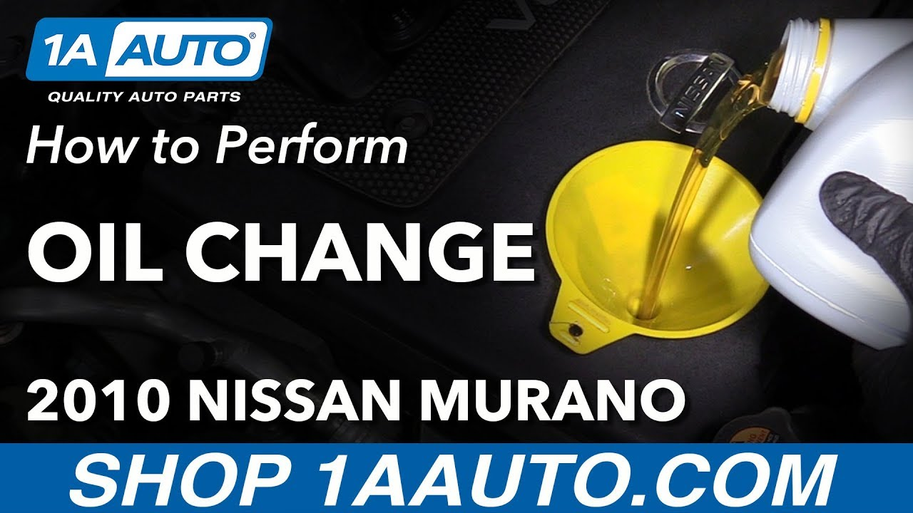 How To Change Engine Oil And Filter 2010 Nissan Murano Youtube 2011 Altima Fuel