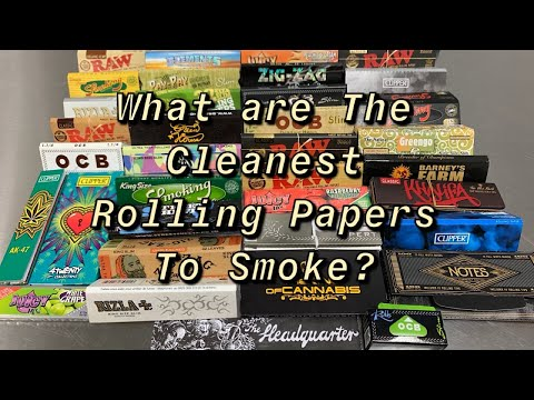 Best/Cleanest rolling papers to smoke? Testing burn rate, residue & quality of burn.
