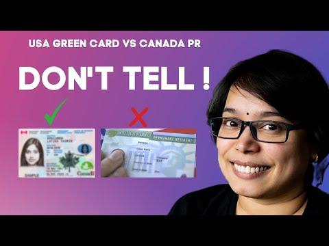 USA GREEN CARD Vs CANADA PR   Which Is Better? True Story   Move North   Canada Job (Bhava Kishore)