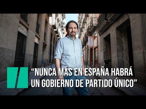 """Pablo Iglesias: """"Nunca más habrá en España un gobierno de partido único"""" - 동영상"""