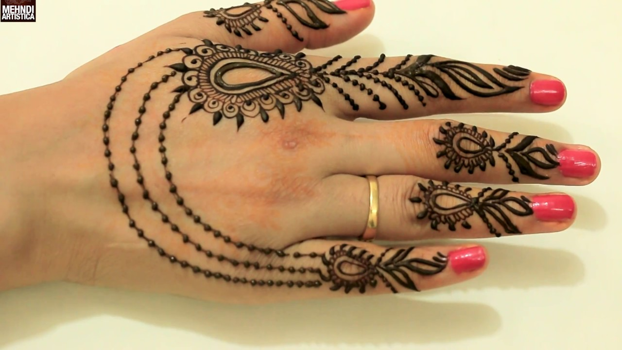 Mehndi Wrist Joint : Super cute trendy girlish henna mehndi designs for datequick