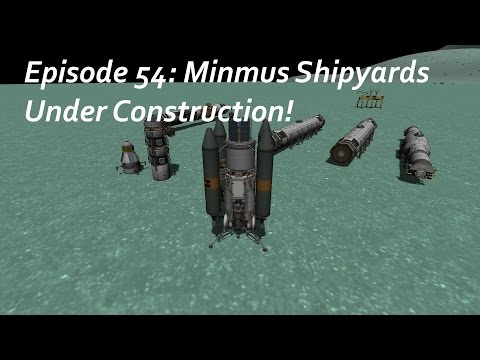 Minmus Shipyards under construction! - KSP/MKS - Multiplanetary Species Episode 54