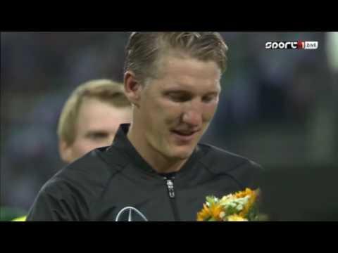 Швайнштайгер расплакался перед последним матчем за сборную Германии