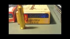 AR 15 ammo comparison 1/9 twist