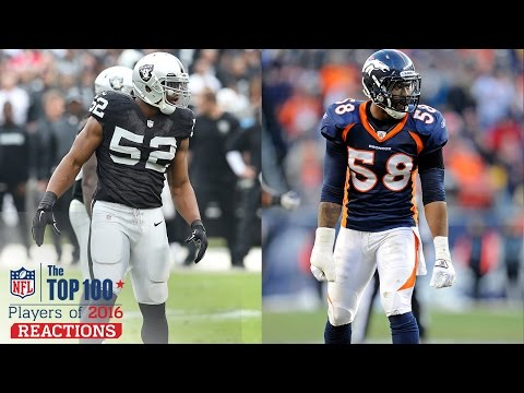 Khalil Mack vs. Von Miller | Top 100 Players of 2016 Reaction | NFL