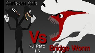 Cartoon Cat Vs Bridge Worm Full Part: 1-5 | Stick Nodes Animation | Jullianyuan21