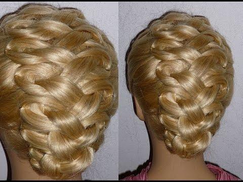 Причёска с плетением для средних, длинных волос.Причёска на выпускной, вечерняя, свадебная причёска