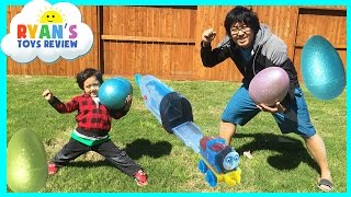 HUGE Easter Eggs Hunt Surprise Toys Challenge with Thomas and Friends thumbnail