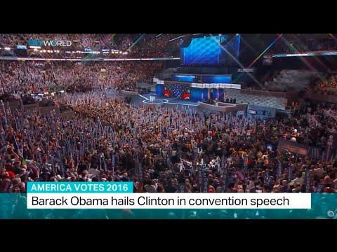 America Votes 2016: Obama hails Clinton in convention speech, Jon Brain reports
