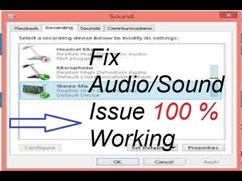 Speaker/Audio Not Working [Solution] In HINDI || Fix Audio/Sound Issue In Laptop/PC Easily