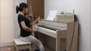 AKIHIDE 月と星のキャラバン ピアノとエレキバイオリンで弾いてみた